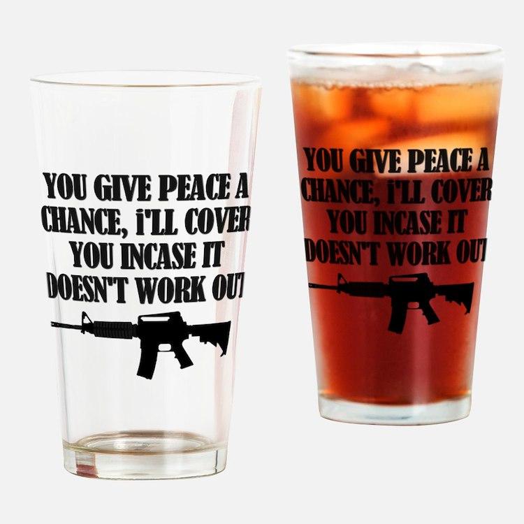 Cute Army air corp Drinking Glass
