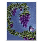 Bird on Grapevine Small Poster