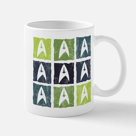 Weathered Star Trek Logo pattern Mugs
