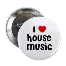 """I * House Music 2.25"""" Button (10 pack)"""