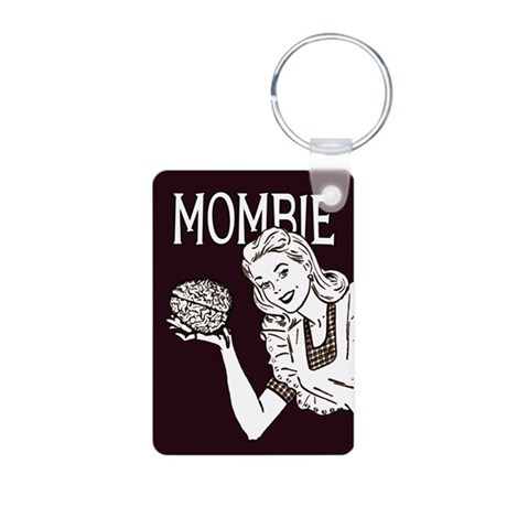 Mombie ~ Zombie Mother Aluminum Photo Keychain