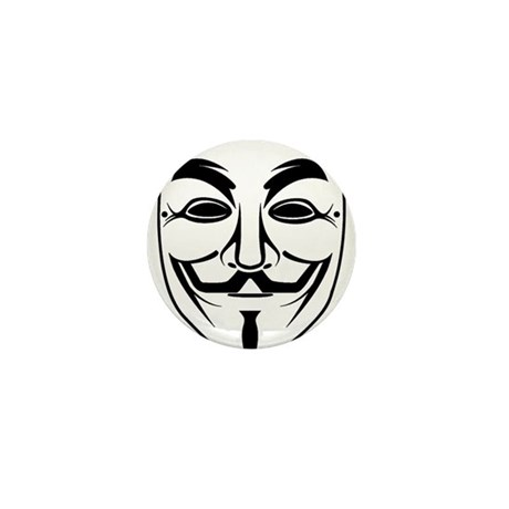 Anonymous Mask Mini Button (100 pack)