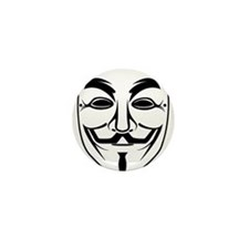 Anonymous Mask Mini Button