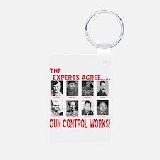 Gun Control Works Keychains