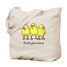 Trois Poussins (3 chicks) Tote Bag