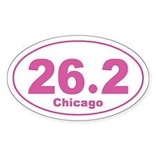 26.2 Chicago Marathon pink Decal