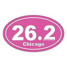 26.2 Marathon Chicago pink 2 Decal