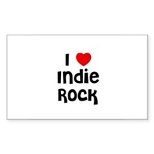 I * Indie Rock Rectangle Decal