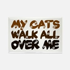 'Walk All Over Me' Rectangle Magnet