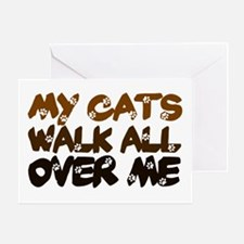 'Walk All Over Me' Greeting Card