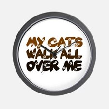 'Walk All Over Me' Wall Clock