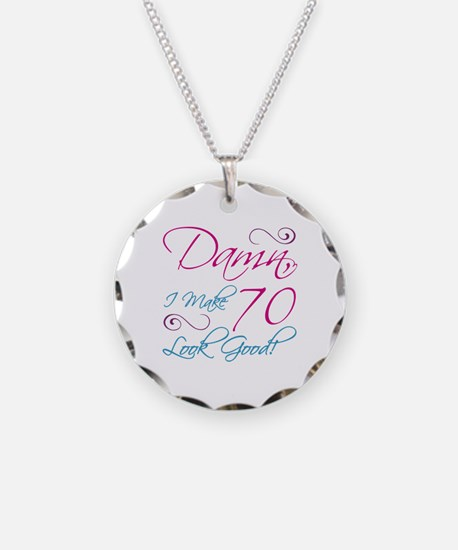 70th Birthday Humor Necklace Circle Charm