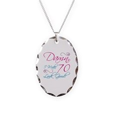 70th Birthday Humor Necklace Oval Charm
