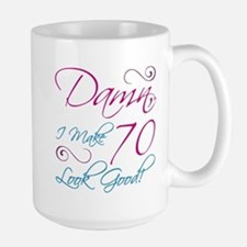 70th Birthday Humor Large Mug