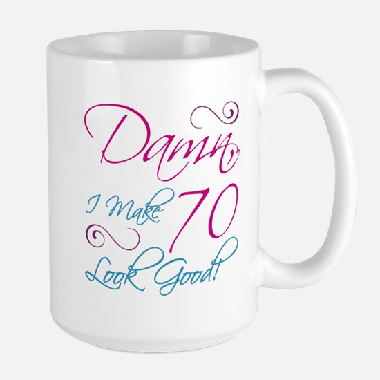 70th Birthday Humor Large Mug