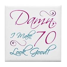 70th Birthday Humor Tile Coaster