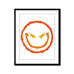 Evil Smiley Face Framed Panel Print