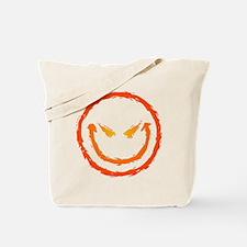 Evil Smiley Face Tote Bag