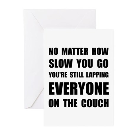 Lapping The Couch Greeting Cards (Pk of 20)