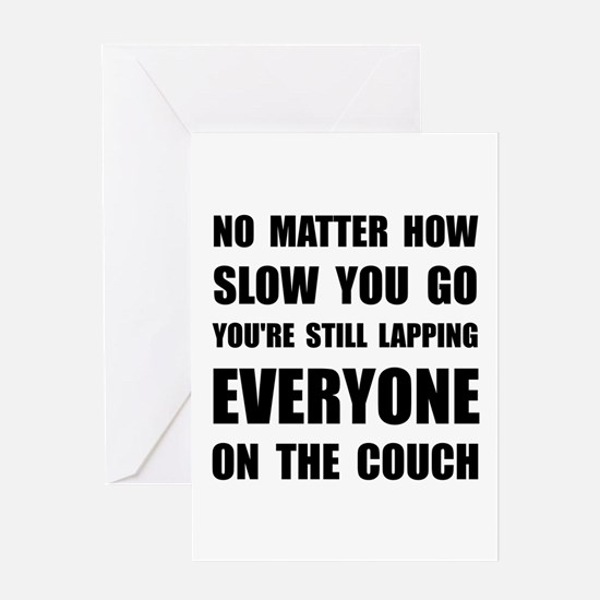 Lapping The Couch Greeting Card