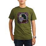 Mallard Circle Mosaic Organic Men's T-Shirt (dark)