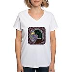 Mallard Circle Mosaic Women's V-Neck T-Shirt