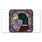 Mallard Circle Mosaic Sticker (Rectangle 50 pk)