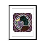 Mallard Circle Mosaic Framed Panel Print