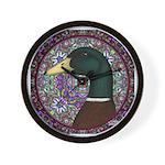 Mallard Circle Mosaic Wall Clock