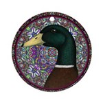Mallard Circle Mosaic Ornament (Round)