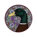 "Mallard Circle Mosaic 3.5"" Button"