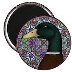 "Mallard Circle Mosaic 2.25"" Magnet (10 pack)"