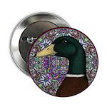 "Mallard Circle Mosaic 2.25"" Button (10 pack)"