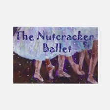 Nutcracker Ballet Rectangle Magnet