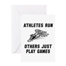 Athletes Run Greeting Card