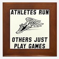 Athletes Run Framed Tile