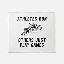 Athletes Run Throw Blanket