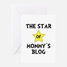 Mommy's Blog Star Greeting Card