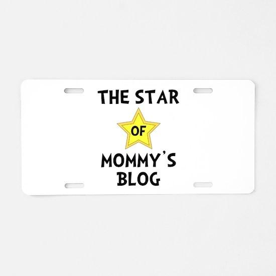 Mommy's Blog Star Aluminum License Plate