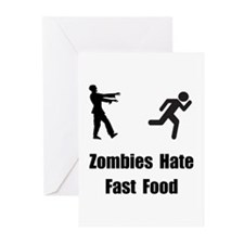 Zombies Hate Fast Food Greeting Cards (Pk of 20)