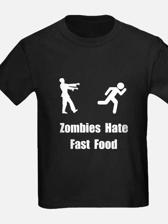 Zombies hate fast food t shirts shirts tees custom for Custom t shirts fast