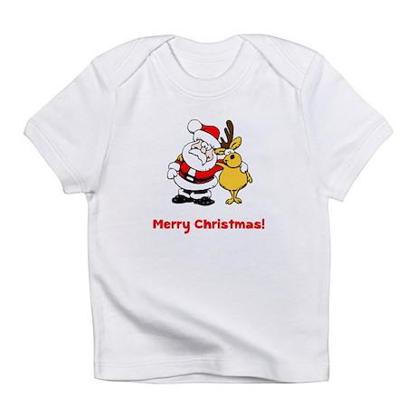 Santa Reindeer Infant T-Shirt