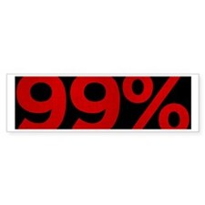 99 Percent Bumper Sticker