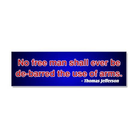 2nd Amendment Thomas Jefferson Car Magnet 10 x 3