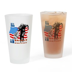 All American Football player Drinking Glass