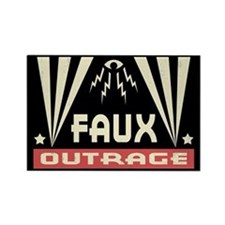Faux Outrage Rectangle Magnet