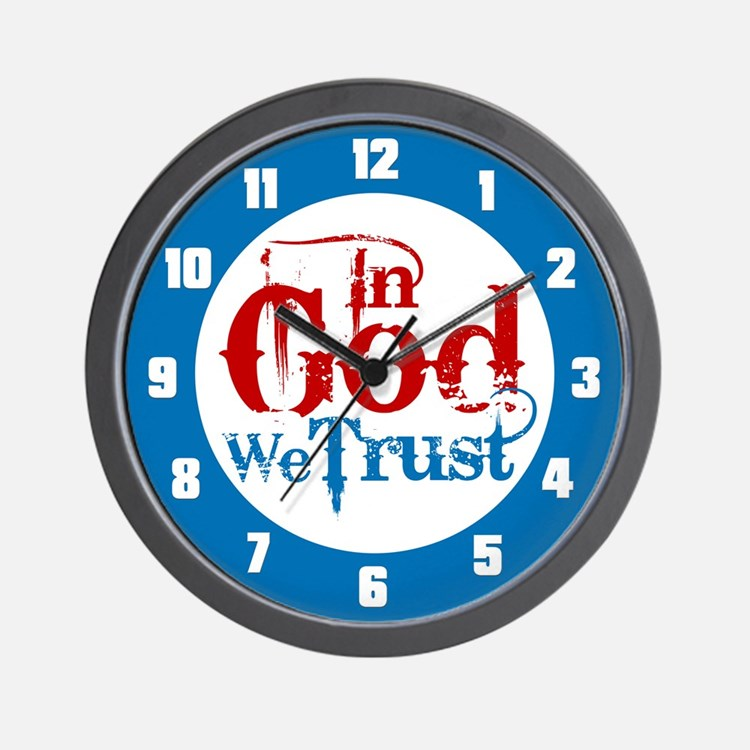 In God We Trust! Wall Clock