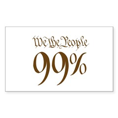 we the people 99% brown Decal