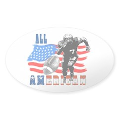 All American Football player Sticker (Oval)