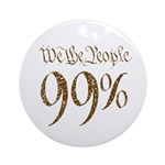 we the people 99% vintage Ornament (Round)